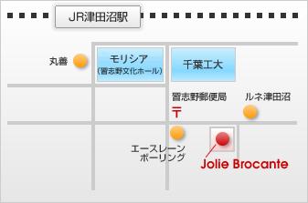 JR東京駅から総武線快速で30分。駅からは5〜6分ほどの距離です。京成津田沼駅もご利用頂けます。