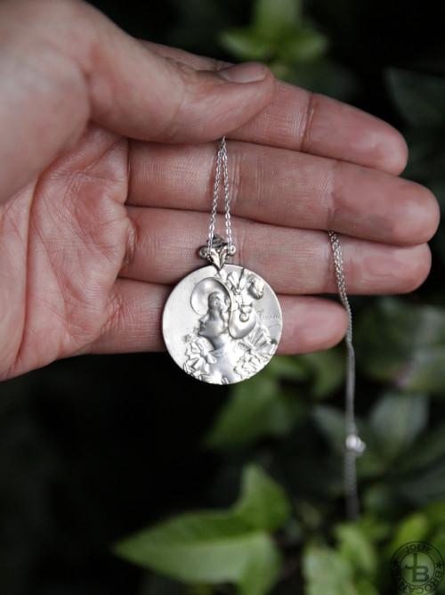 アンティーク シルバープレート アールヌーボー 女性像
