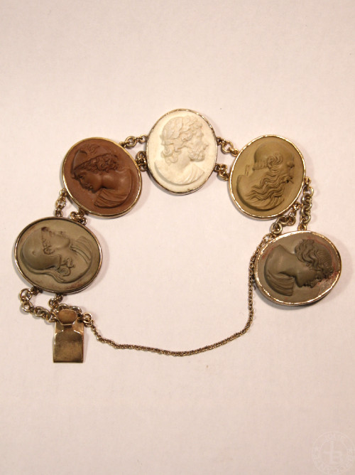 Antique Lava Cameo Bracelet