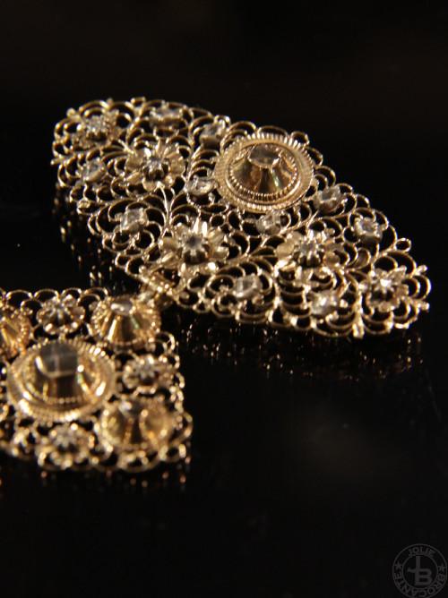 アンティーク ゴールド ダイアモンド ストマッカー