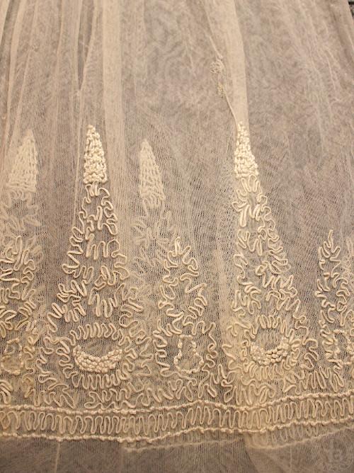ビンテージ ベビードレス コード刺繍 着丈85cm