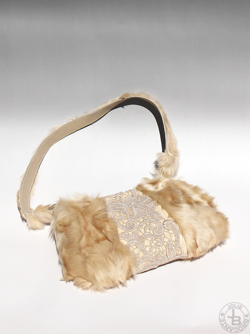 SHINYA Fur+Lace Bag