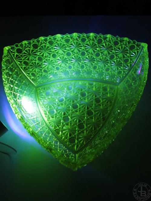 Uranium Glass Cut bowl