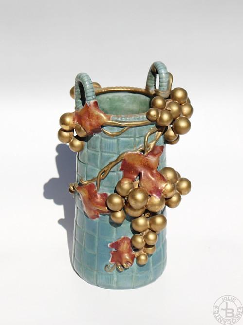 アンフォラ磁器工房 葡萄花器