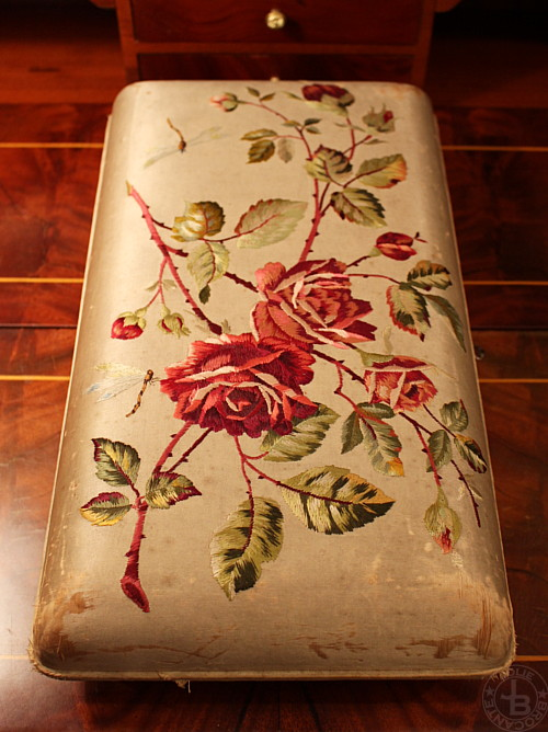 Rose with dragonfly Embroidered Box