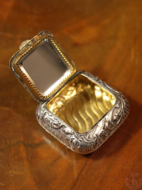 antique silver compact