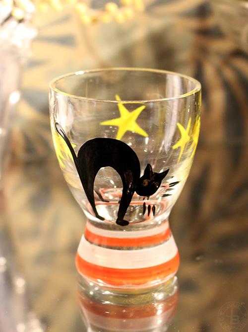 黒猫のショットグラス
