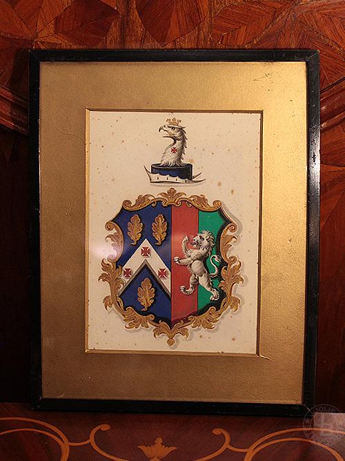 額 鷲と獅子の紋章