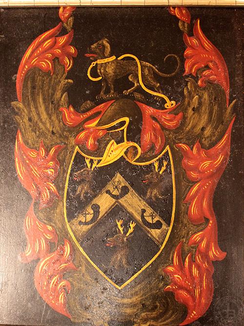 額 犬と鹿の紋章