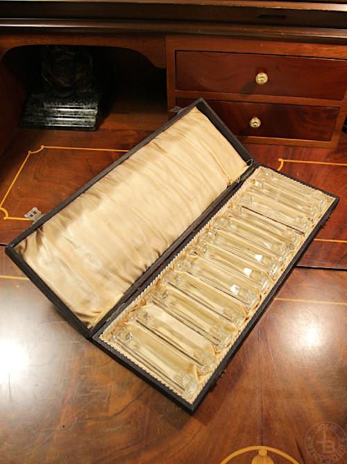 アールデコ ガラス カトラリーレスト12個セット オリジナルボックス