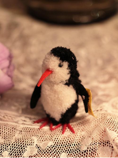 Steiff woolen penguin